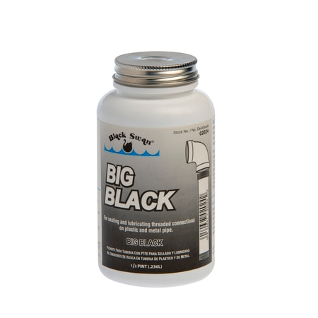 Black Swan Mfg. Co. Big Black, Pipe Joint Compound - 1/2 pint 02024