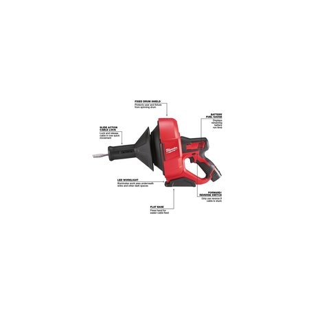 Milwaukee 2571-21 M12 Cordless Lithium-Ion Drain Snake Kit with Bucket for sale online