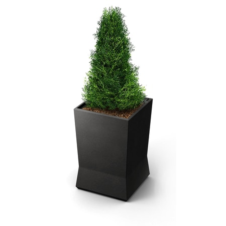 Commercial Zone Products Medium ModTec Planter, Gunmetal Stain 724366