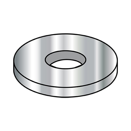 Zoro Select Flat Washers,  4 MILITARY MACH SC WASHER L STAINLESS STEEL AN960-C4L