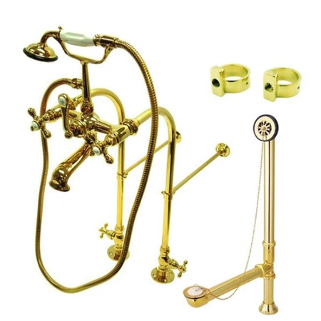 Kingston Brass Clawfoot Tub Faucet Packages,  Polished Brass,  Freestanding CCK5172AX