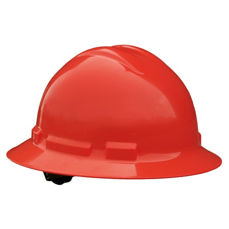 Radians Full Brim Hard Hat,  Type 1,  Class E,  Pinlock (6-Point),  Red QHP6-RED