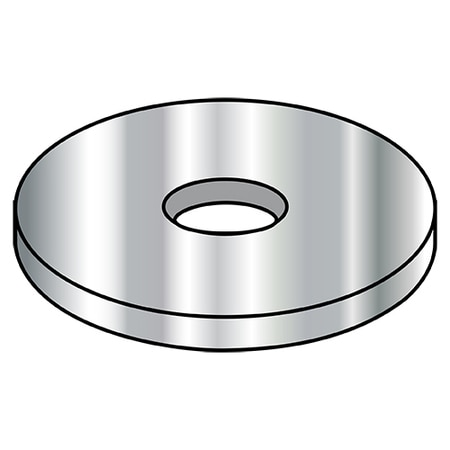 Zoro Select Flat Washers,  10 Type B,  Wide 300 Series SS DFAR Made in,  PK2000 10WFBW300