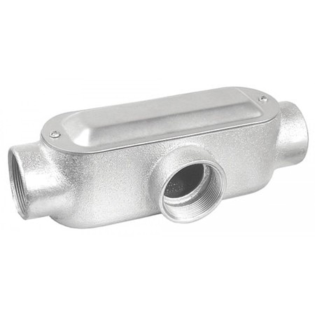 Garvin One And One Quarter In. T Style Conduit Body Malleable Iron MT125