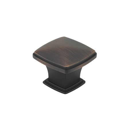 Richelieu Hardware 1 11/16 in. X 1 11/16 in. (43 mm x 43 mm) Brushed Oil-Rubbed Bronze Transitional Metal Cabinet Knob BP81045BORB