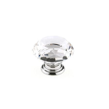 Richelieu Hardware 2 in (50 mm) Clear,  Chrome Contemporary Metal,  Crystal Cabinet Knob BP87765014011