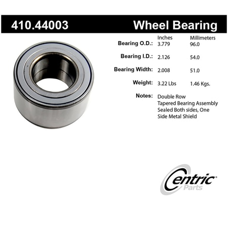 Centric Parts 410 44003 96 99 Wheel Bearing And Race Set 410 44003 Zoro Com