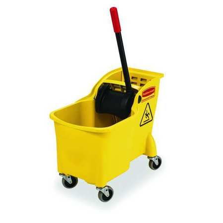 Rubbermaid Mop Bucket and Wringer, 7.75 gal., Yellow FG738000YEL