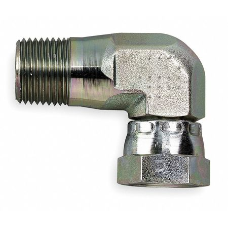 """90 Degee BLK 4 AN Female Swivel To 1//4/"""" NPT Pipe Thread Fitting"""