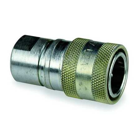 """Safeway Hydraulics Hydraulic Quick Connect Hose Coupling,  Steel Body,  Push-to-Connect Lock,  3/4""""-16 Thread Size S25-15P"""