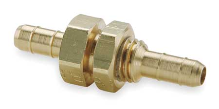 3//8 Barb Tube x 3//8 Barb Tube Parker Hannifin 225-6-6 Dubl-Barb Brass Body Union Elbow Fitting