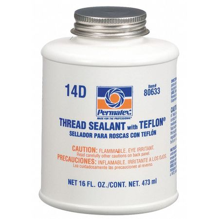 16 oz. Thread Sealant with PTFE,  White