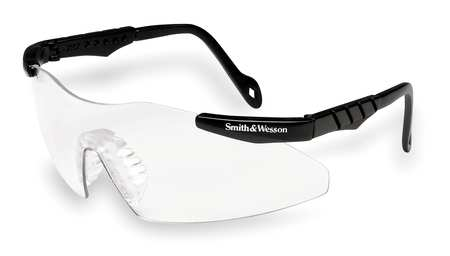 Smith & Wesson Safety Glasses,  Wraparound Clear Polycarbonate Lens,  Scratch-Resistant 19799