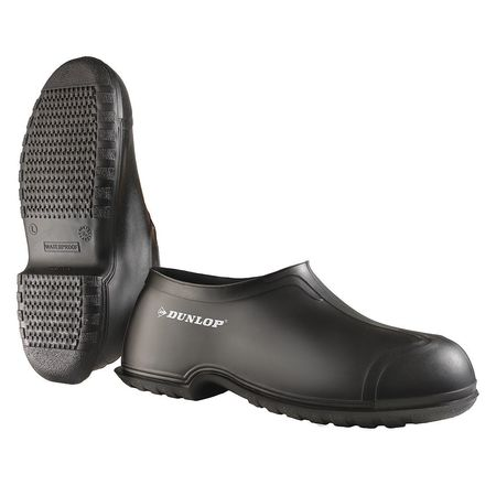 Overshoes, Mens, XL, Pull On, Blk, PVC, PR
