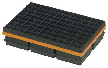 Vibration Isolation Pad, 4x4x1 1/4 In