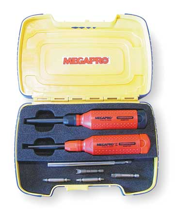 15-in-1 Tamperproof 1 /& 2 MEGAPRO TP-TP2DK3 Multi-Bit Screwdriver Kit 19 pcs