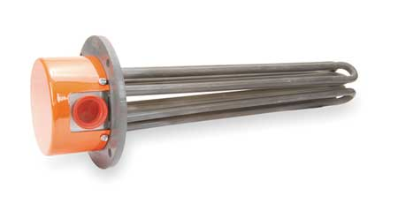 Tempco Flanged Immersion Heater, 37-15/16 In. L TFP02720