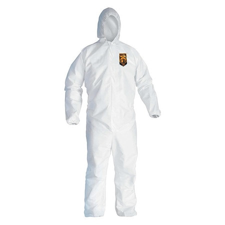 Kimberly-Clark Hooded Disposable Coveralls,  3XL,  25 PK,  White,  KleenGuard A40 44326