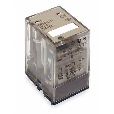 MY4 24V DC OMRON 14PIN 4 POLE C//0 CONTACTS PLUG IN RELAY 2 off relays