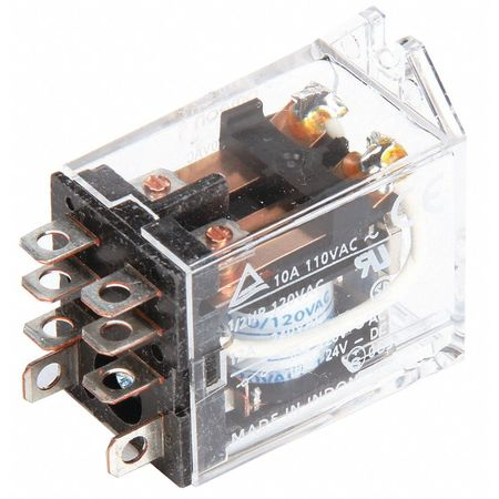 Omron Relay, 8Pin, DPDT, 10A, 24VAC LY2F-AC24