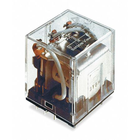 Omron General Purpose Relay,  240V AC Coil Volts,  Square,  11 Pin,  3PDT LY3-AC240