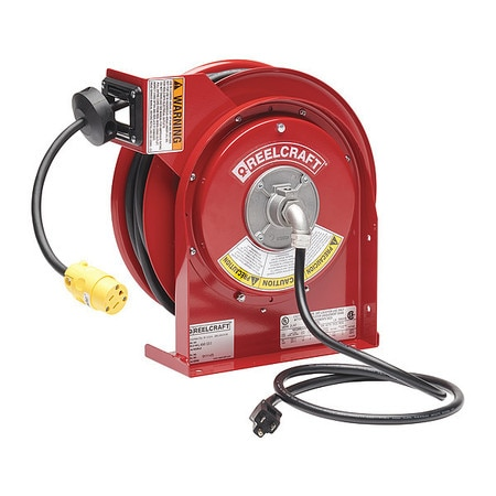 Reelcraft 45 ft. 12/3 Extension Cord Reel 15.0 A Amps 1 Outlets 120V AC Voltage L 4545 123 3