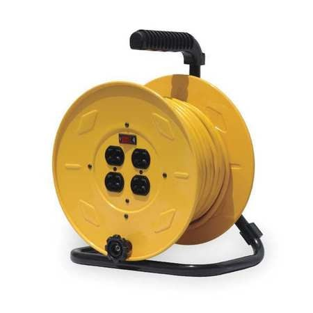 Reelcraft Hand Wind Cord Reel 4 Outlets 120V AC Voltage LH2080 143