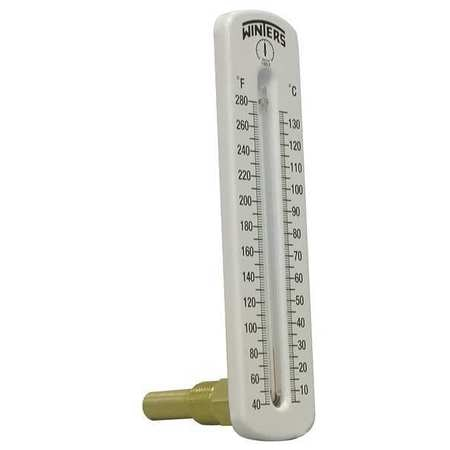 Thermometer,Analog,40-280 degF,1//2in NPT WINTERS TSW173LF.