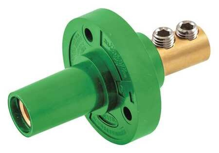 Hubbell Receptacle, Grn, Female, 8-2, Taper HBL15FRGN