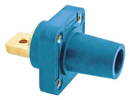 Hubbell Receptacle, Blue, Female, Taper Nose, Double HBLFRBBL