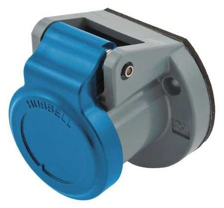 Hubbell Single Pole Connector, Weather Cover, Blue HBL15NCBL