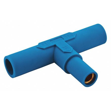 Hubbell Paralleling Tee, Blue, Taper Nose, Ser 15 HBL15PTBL