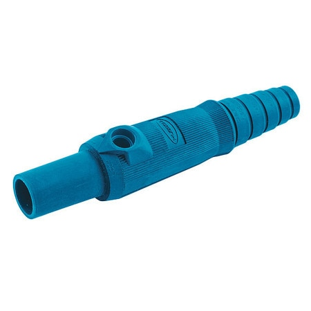 Hubbell Wiring Device-Kellems Single Pole Connector, Female, Blue HBL15FBBL