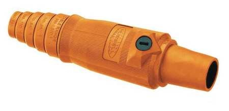 Hubbell Connector,  3R,  4X,  12,  Female,  Orange,  2/0 to 4/0 HBL400FO