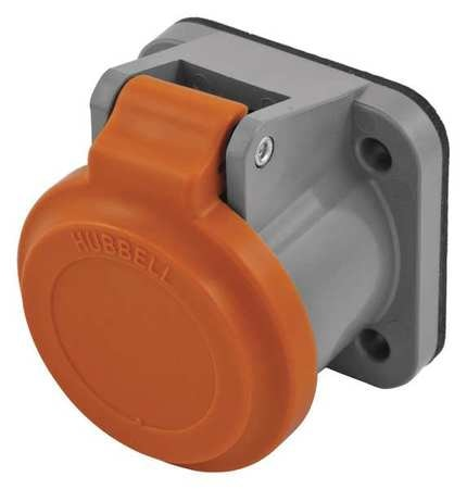 Hubbell Single Pole Connector, Non-Met Cover, Orng HBLNCO