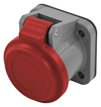 Hubbell Single Pole Connector, Non-Met Cover, Red HBLNCR
