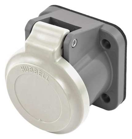 Hubbell Single Pole Connector, Non-Met Cover, Whit HBLNCW