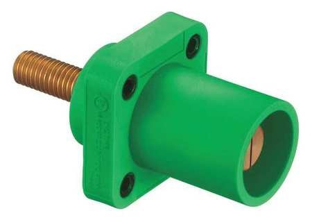 Hubbell Receptacle, Grn, Male, Taper Nose, Ser 16 HBLMRSCGN