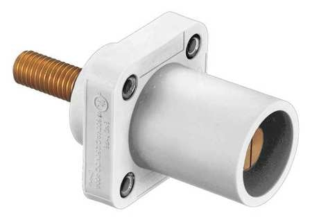 Hubbell Connector, Male, White, 4 to 4/0, Stud HBLMRSCW