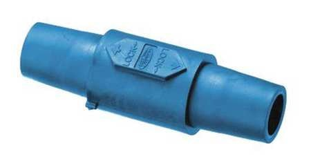 Hubbell Double Connector, 300/400A, Blue HBLDFBL