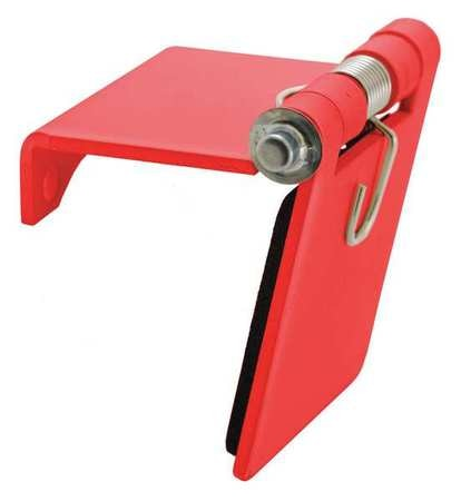Hubbell Single Pole Connector, Snap Cover, Red HBLSCCR
