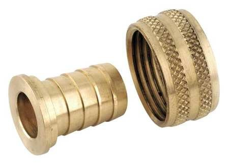 Zoro Select 6Afn2 Hose Barb,1//4 In Barb,3//8 In Mnpt,Brass
