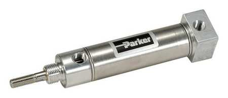 Parker Air Cylinder,  1 1/2 in Bore,  3 in Stroke,  Round Body Double Acting 1.50BRDSRM03.00