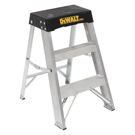 Fine 2 Steps Aluminum Step Stool 300 Lb Load Capacity Silver Onthecornerstone Fun Painted Chair Ideas Images Onthecornerstoneorg
