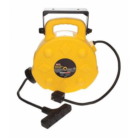 Bayco 40 ft. 12/3 Poly Cord Reel, w/4 Outlets, 15A, 40 ft 15 Amps 4 Outlets SL-8904-40
