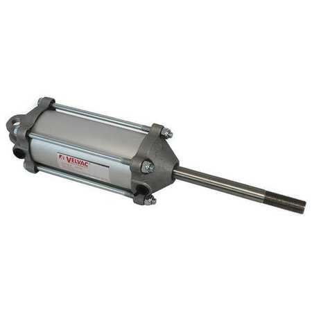 Velvac Air Cylinder,  2 1/2 in Bore,  4 in Stroke,  Single Acting 100125