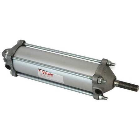 Velvac Air Cylinder,  2 1/2 in Bore,  6 in Stroke,  Single Acting 100126