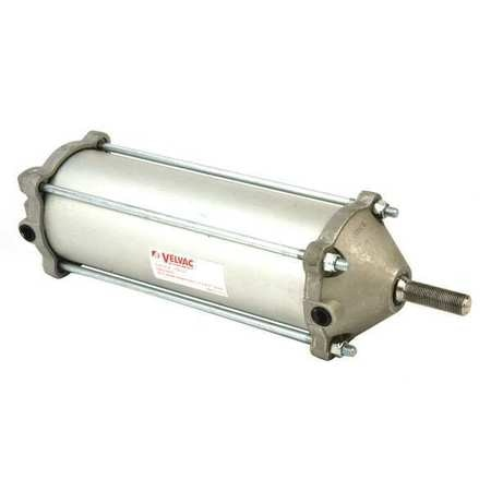 Velvac Air Cylinder,  3 1/2 in Bore,  8 17/25 in Stroke,  Double Acting 100136