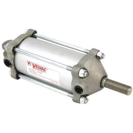 Velvac Air Cylinder,  2 1/2 in Bore,  4 in Stroke,  Double Acting 100122