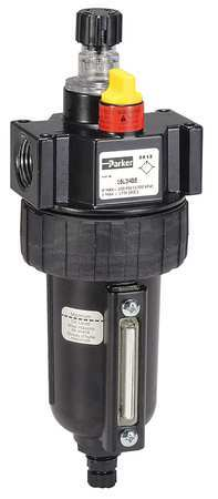 Parker Air Line Lubricator, 1/2In, 90 cfm, 250 psi 16L34BE